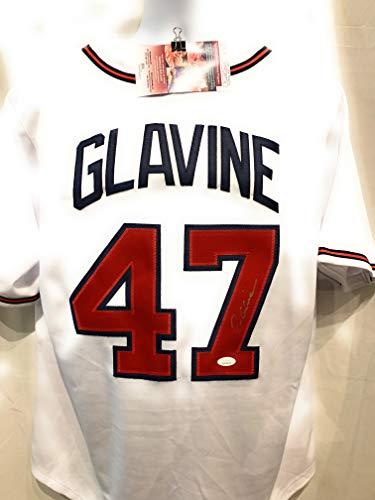 Tom Glavine Atlanta Braves Signed Autograph White Custom Jersey JSA Witnessed Certified ()