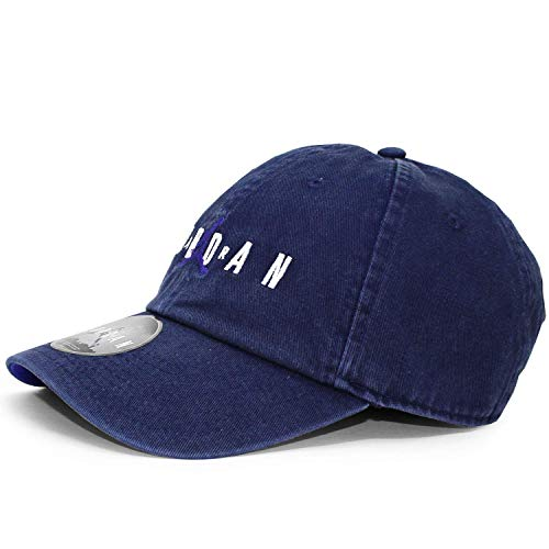 Nike Jordan Heritage H86 Air Strapback Hat (One Size, Blackened Blue/Germaine Blue) (Jordan Hat)
