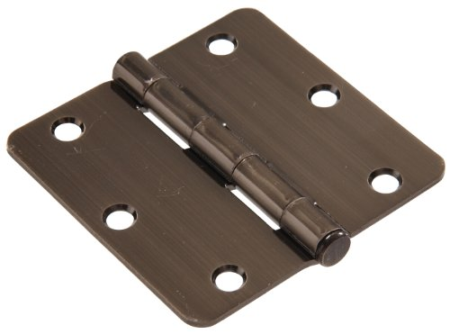 """UPC 008236989601, The Hillman Group 852789 3"""" Residential Door Hinge - 1/4"""" Round Corner - Removable Pin - Full Mortise - Pewter 1-Pack"""