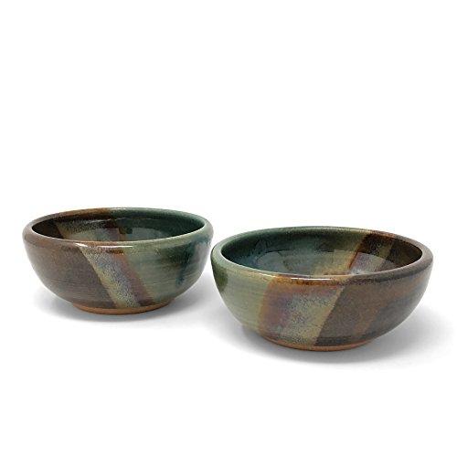 Clay Path Studio Dip or Dessert Bowl, Seaweed, Set of 2