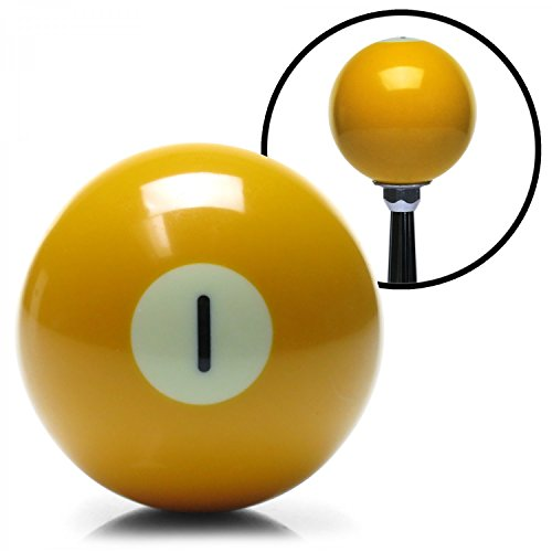 American Shifter 96046 Solid Yellow 1 Ball Billiard Pool Shift Knob ()