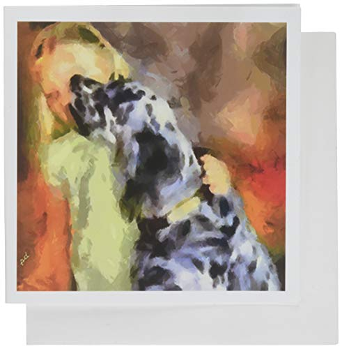 English Setter with Child Blank Note Cards - Set of 6 with Envelopesby DoggyL. (Cards Setter Note English)