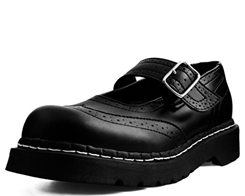 Tuk Shoes T2269 Womens Mary Jane, Black Tukkin Brogue Mary Jane