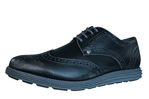 Firetrap Bud Ata para arriba Brogues / zapatos de los hombres Charcoal Grey