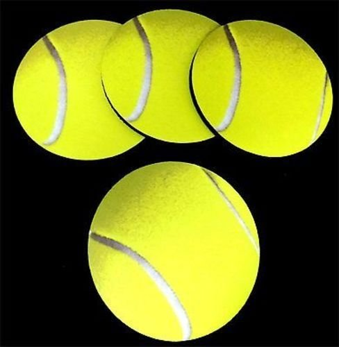 TENNIS BALLS New Design Funny Bar 4 Coaster Drink Set Patch Biker Gift COA-0043