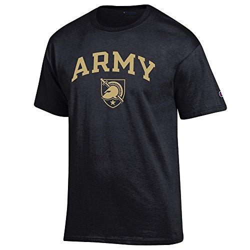 Elite Fan Army Black Knights Men's Short Sleeve Arch Tee Shirt, Black, Medium