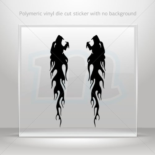 Of Wolves Flames Tablet Laptops Weatherp Black (8 X 1.68 Inches) ()