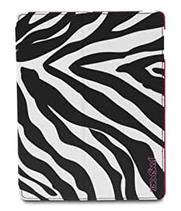 Jansport Hard to Find Backpacks, Tablet Sleeves, Slipcases, Waist Packs Collection (SNAPSTAND FOR IPAD 2 and newer - PINK PANSY MISS ZEBRA)