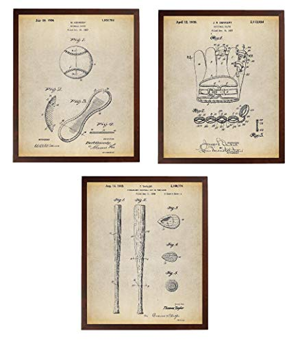 Baseball Poster Ideas - Turnip Designs Baseball Patent Poster Art