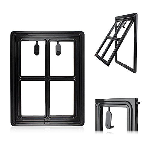 "Petleso Dog Door Screen - Pet Door for Screen Pet Door Lockable for Small to Large Pets - Inner 12""×15.5"" Black"