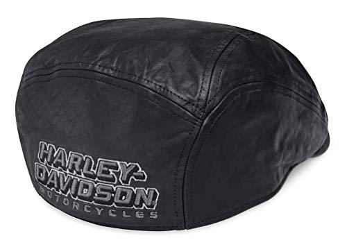 Harley-Davidson Men's Embroidered Plaid Lined Lambskin Ivy Cap 97817-19VM (L) Black
