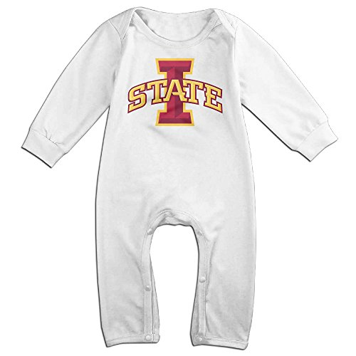Cyclone Mascot Costume (KIDDOS Baby Infant Romper Iowa State University Long Sleeve Jumpsuit Costume,White 18 Months)
