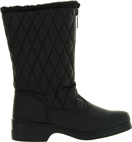 Totes Dames Quilty Fashion Waterproof Snowboots Zwart