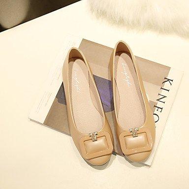 Cómodo y elegante soporte de zapatos de las mujeres pisos de primavera/verano/otoño/invierno comodidad Casual Flat Heel otros verde/gris/almendra Walking verde