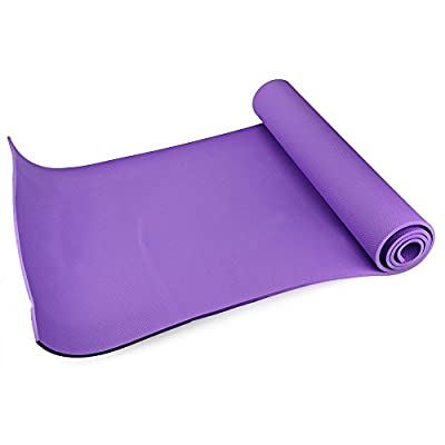 (Purple) Utility 3 Colors 6MM EVA Yoga Mat Exercise Pad Thick Non-slip Folding Gym Fitness Mat Pilates Supplies Non-skid Floor Play Mat