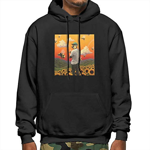 For L And Yu Men's Hoodie Tyler,Flower Boy The Creator Sports Sweatshirt Gray