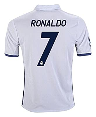 #7 Ronaldo Real Madrid Home Kid Soccer Jersey & Matching Shorts Set 2017-18