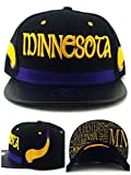 King's Choice Minnesota New Leader Horned Vikings Colors Black Purple Gold Era Snapback Hat Cap