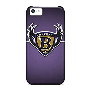 Protector Hard Cell-phone Cases For Iphone 5c With Support Your Personal Customized Realistic Baltimore Ravens Skin NataliaKrause