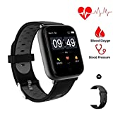 Aeifond Smart Watch Fitness Tracker Compatible Android iPhone iOS Samsung, Healthy Exercise Smartwatch IP68 Waterproof Activity Tracking Heart Rate Blood Pressure Steps Removable Bands for Men Women