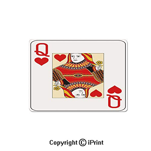 - Large Gaming Mouse Pad Queen of Hearts Playing Card Casino Decor Gambling Game Poker Blackjack Deck Extended Mat Desk Pad Mousepad Non-Slip Rubber Mice Pads 9.8