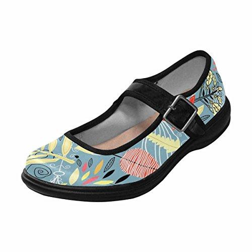 Interestprint Womens Comfort Mary Jane Flats Casual Scarpe Da Passeggio Multi 15