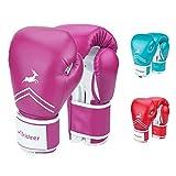 Trideer Pro Grade Boxing Gloves, Kickboxing Bagwork Gel Sparring Training Gloves, Muay Thai Style Punching Bag Mitts, Fight Gloves Men & Women (Rose, 12 oz)