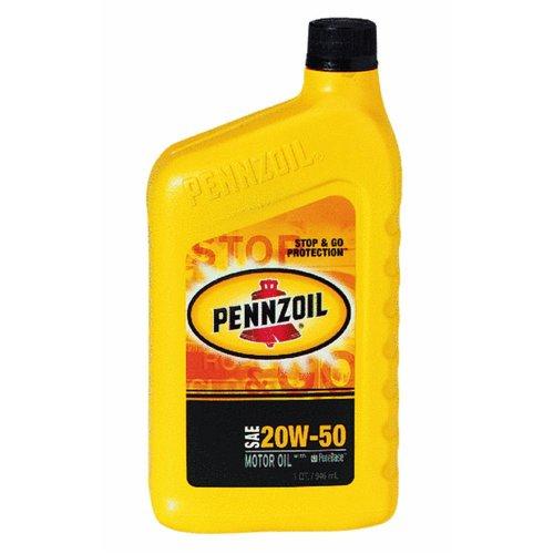 Pennzoil Motor Oil Multi Grade Sae 20w50 Qt.