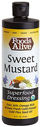 - Superfood Dressing, Sweet Mustard, Organic, 16oz