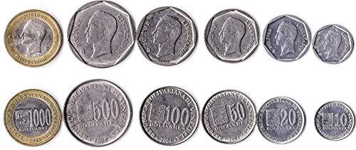 Venezuela 6 Coins Set 1998 UNC 10 bolivares - 100 bolivares Collectible Coins to Your Coins Album, Coin Holders OR Coin Collection