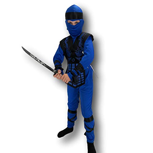 Black Ninja Girl Costumes - Blue Neon Ninja Costume Rubber Johnnies,