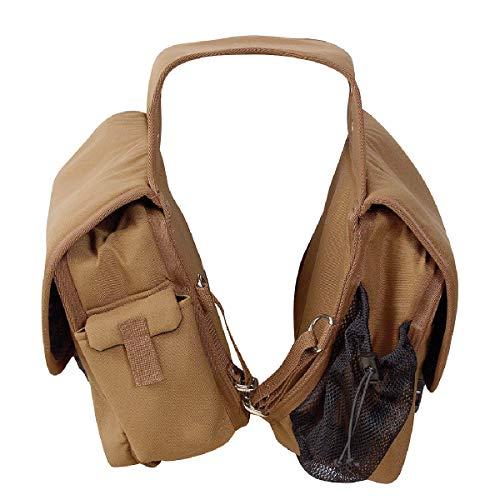 (Cashel Quality Deluxe Horse Saddlebag, Padded Pockets Color: Brown )