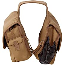 Cashel Quality Deluxe Horse Saddlebag, Padded Pockets Color: Brown