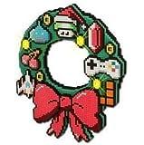 8-bit LED Christmas Wreath - Retro Gaming Festive Decor