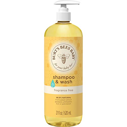 Burt's Bees Baby Shampoo & Wash, Fragrance Free & Tear Free Baby Soap - 21 Ounce Bottle