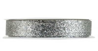 The Gift Wrap Company 3/8-Inch Razzle Dazzle Banding Ribbon, Silver (19046-02)
