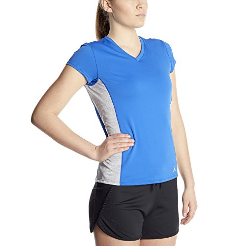 Arctic Cool Women's V Neck Instant Cooling Shirt with Mesh Side Panels