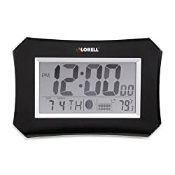 60998 Lorell LCD Wall/Alarm Clock - Digital