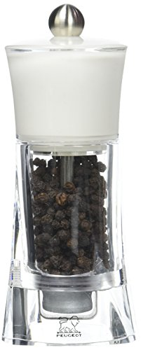 Peugeot Molene Pepper Mill, 5.5-Inch, White ()