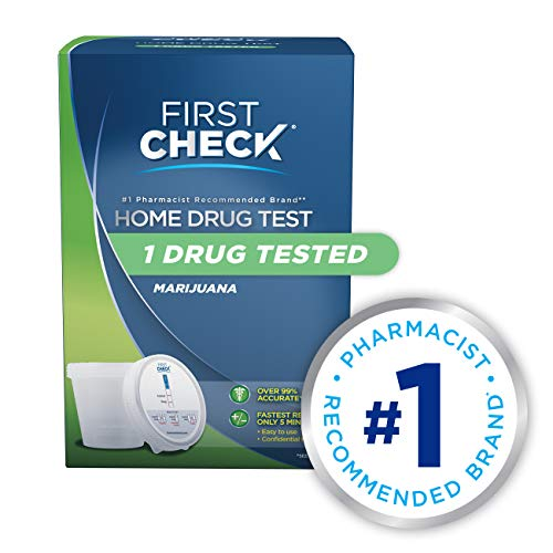 First Check at Home Drug Test Cup Kit, Marijuana THC, 1 Count