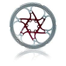 XLC Bremsscheibe Br-x59 CNC Reibring Material de Bicicleta, Unisex Adulto, Rojo/Plateado, Durchmesser 180 mm