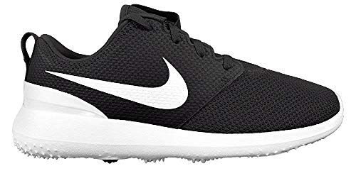 Nike Men's Roshe G Golf Shoe Black/White Size 10 M US (Best Spikeless Golf Shoes For Walking)