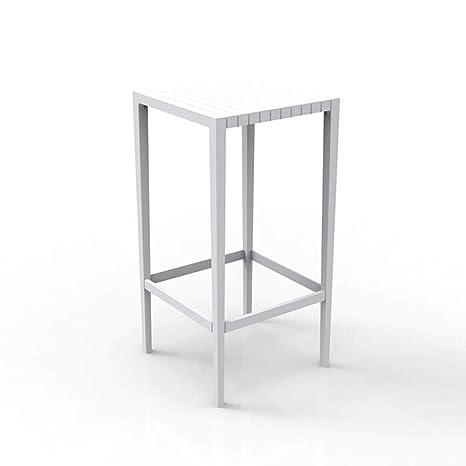 Vondom Spritz mesa alta de exterior 50x50 cm h.100 cm blanco ...