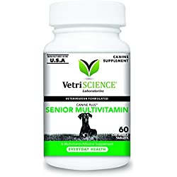 VetriScience Laboratories Canine Plus Senior Multivitamin 60 Chewable Tablets for Dogs