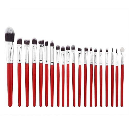 20PCS Makeup Brush Set Kit Foundation Powder Eyeshadow Eyebrow Eye Lip Tool Gift (Styles - #1 Red 20pcs) -