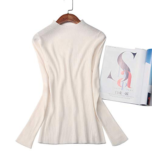 Nighout Slim Sweater Velvet White Milky New Temperament Women's Shirt Knit Bottoming Women UpAwUq