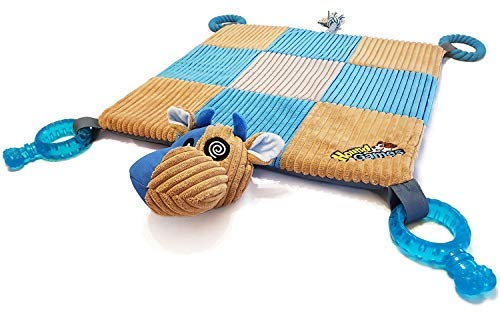 - HoundGames | The Doggy Play Mat - Puppy Chew Toys, Teething Ropes, Dental Grade Quality, Squeaker Nose, Plush Padded Mat - Designed in The Colors Dogs See Best!