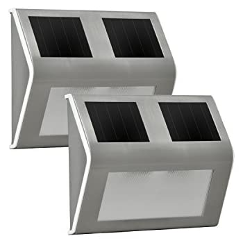 Amazon Com Sunforce 84507 Solar Dock Light Pack Of 2