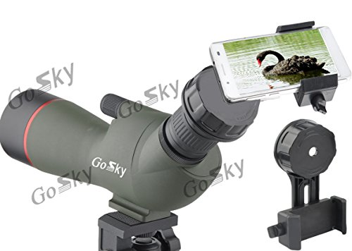 Gosky Quick Cell Phone Adapter Mount – Compatible with Binocular Monocular Spotting Scope Telescope and Microscope from Gosky