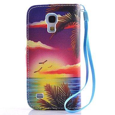 Casos hermosos, cubiertas, Nuevo patrón de paisaje marino de la PU material de cordón caja del teléfono del soporte para el borde samsung galaxy s3mini / s4mini / ( Modelos Compatibles : Galaxy S6 Edg Galaxy S6